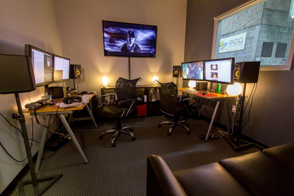 Collin Ingram's video production suite