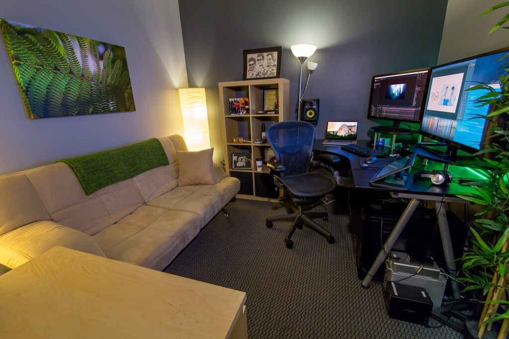 Brandon Peterson's video production office