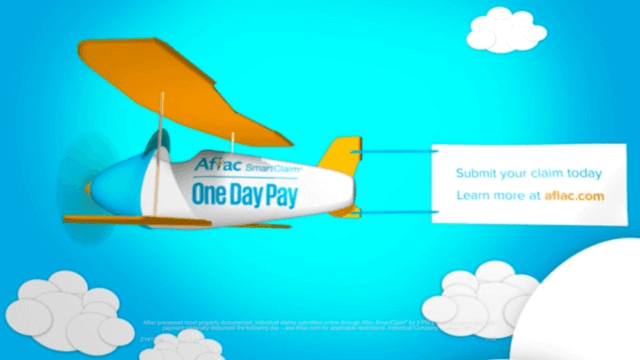 Animated Plane with Aflac banner