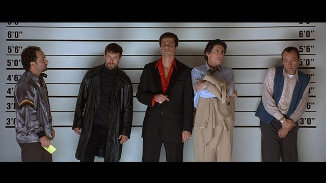 Usual Suspects movie scene, police line up