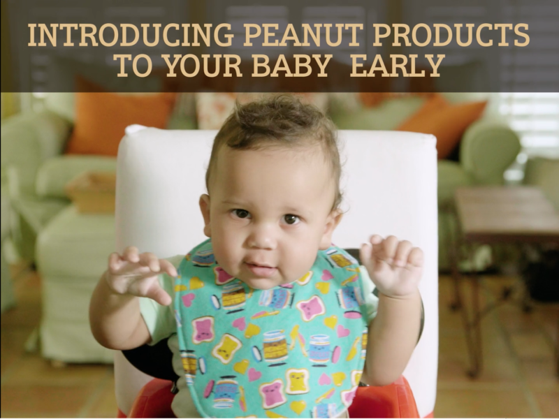NPB recipe video about early peanut introduction for babies.