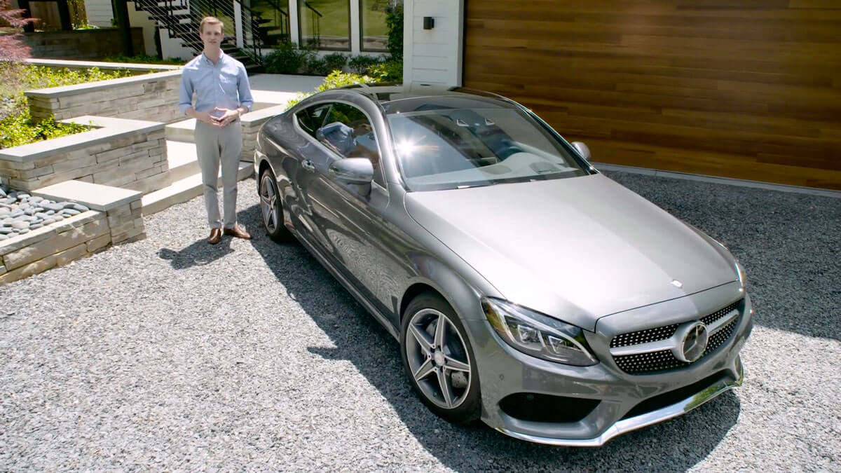 2017 mercedes benz c class coupe video review demo for Mercedes benz c300 review 2017