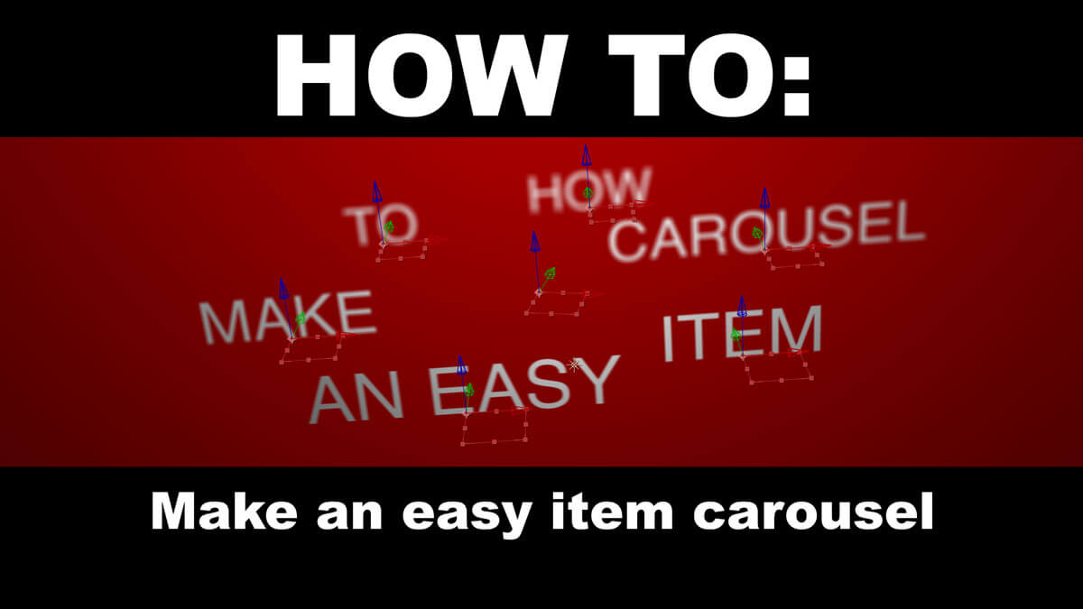 After Effects Tutorial - How to Make an Easy Item Carousel
