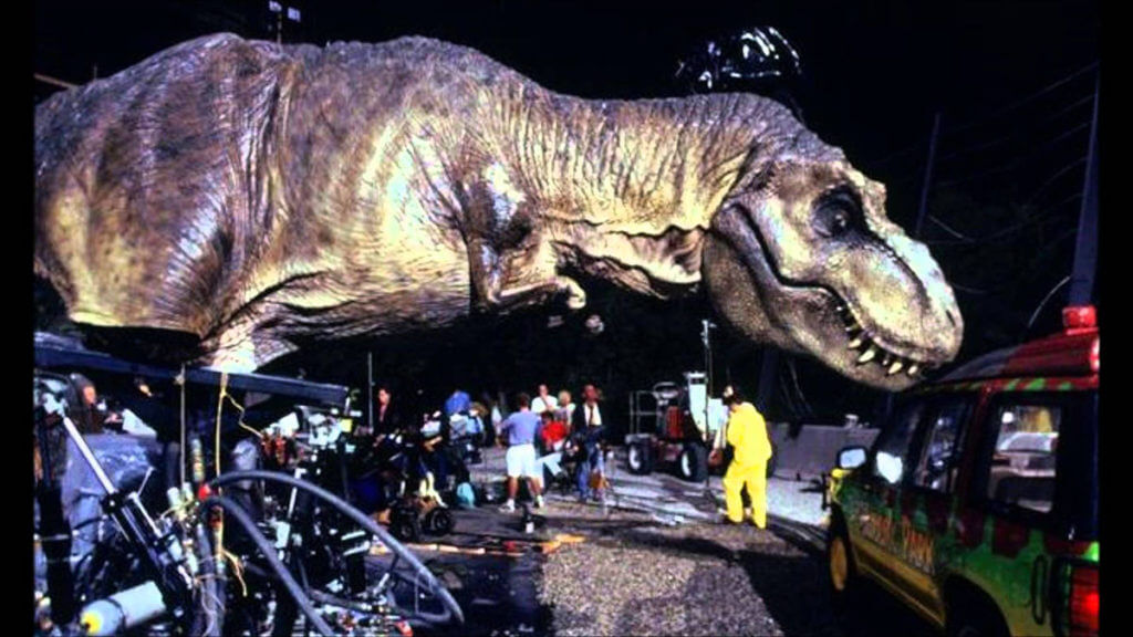 Jurassic Park T-Rex behind the scenes