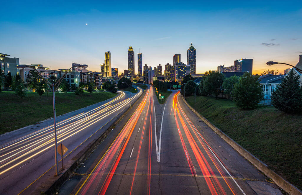 Timelapse / hyperlapse image of Atlanta Traffic