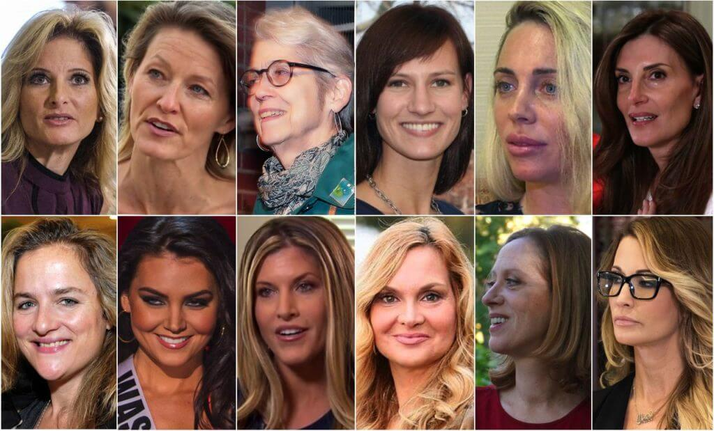 12 women who have accused Donald Trump of rape or sexual assualt.