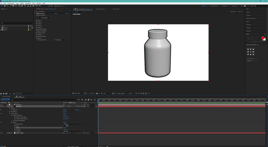 3D dynamic outlines on an object in After Effects