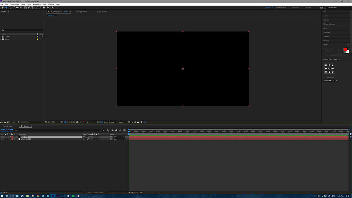 After effects tutorial creating dynamic 3d outlines ecg productions after effects tutorial setup with a solid black canvas ready for the dynamic 3d outlines baditri Image collections