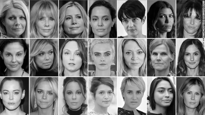 Some of the women who have accused Weinstein of sexual assualt.