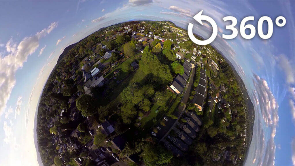 360-degree little planet view