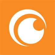 Crunchy Roll logo (orange and white)