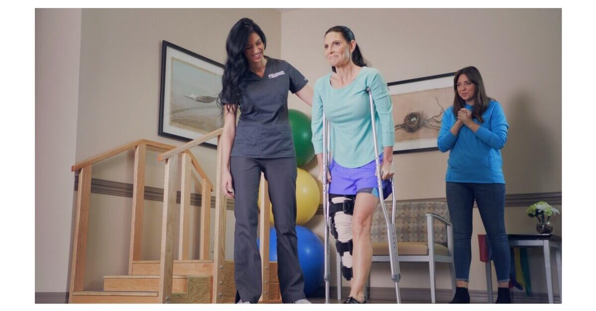 "Resurgens Orthopaedics - ""I Am a Champion"" TV commercial. Mother and daughter in physical therapy session"