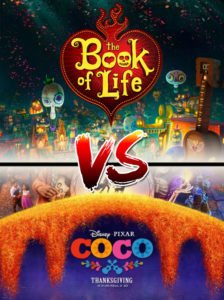 Coco vs The Book of Life poster, a comparison by animator David Hixon.