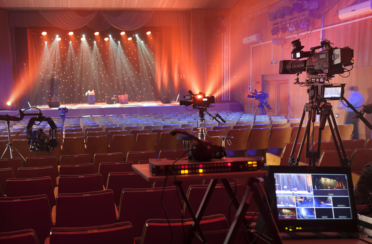 Live stream video production at an indoor event space.