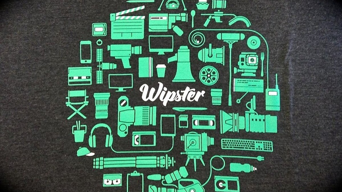 Green and white Wipster icons in front of a white noise tv background