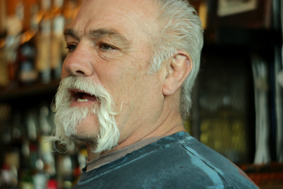 A bokeh lens photo of the owner of Bantam Pub in Atlanta, GA.