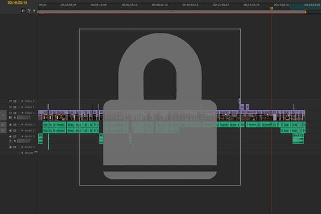 Adobe Premiere screenshot with picture lock.