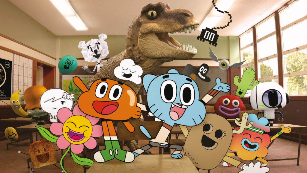 The main characters from The Amazing World of Gumball