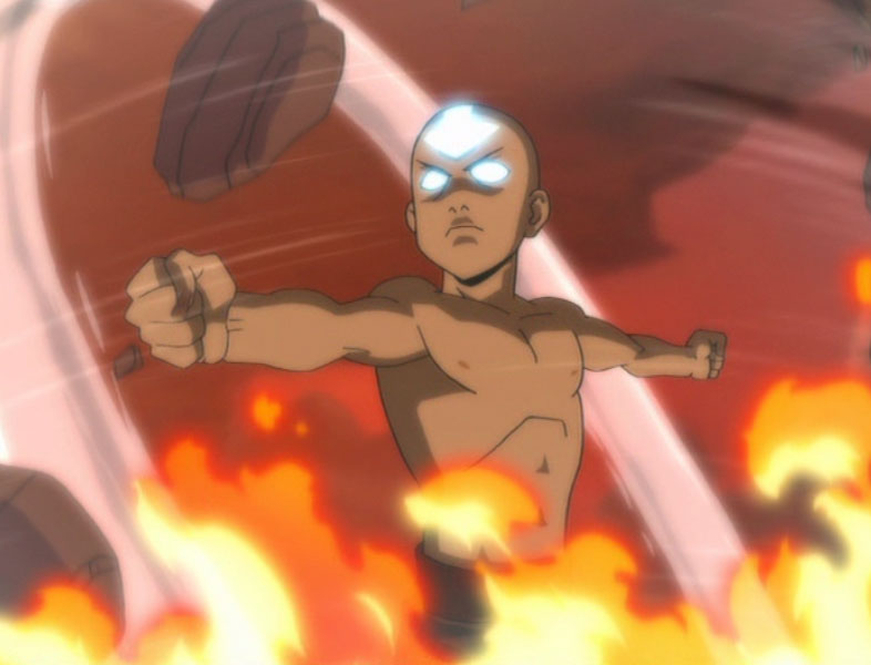 Aang's avatar state in Avatar: The Last Airbender