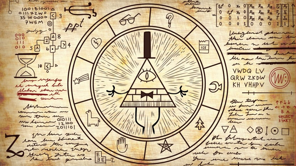 Gravity Falls pyramid and symbols