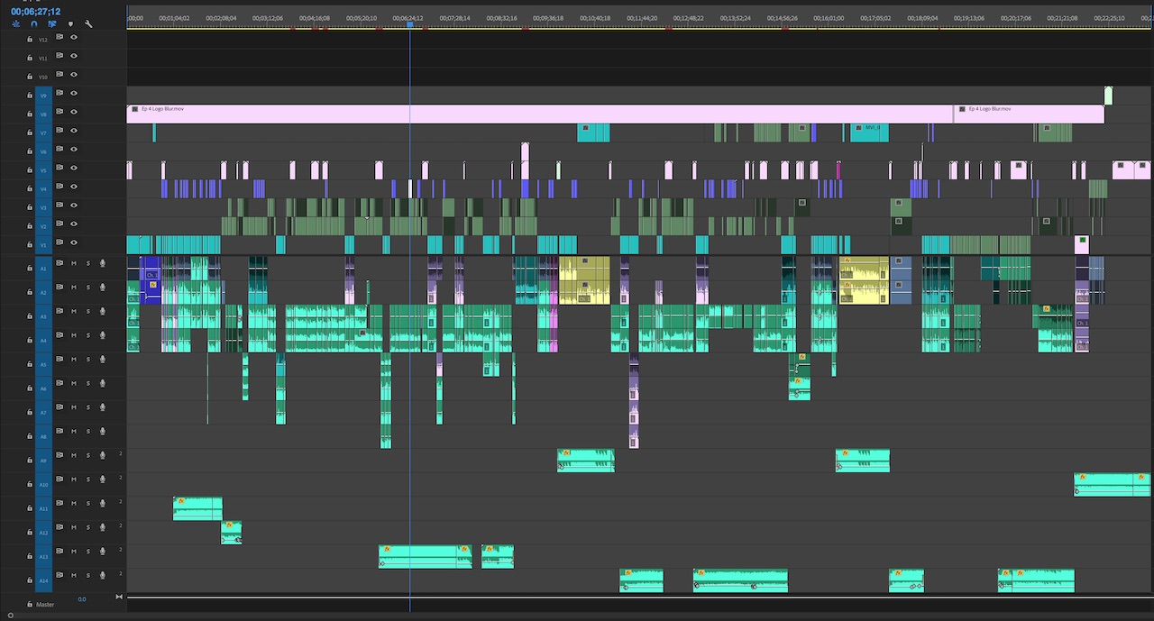A finished Adobe Premiere Pro project