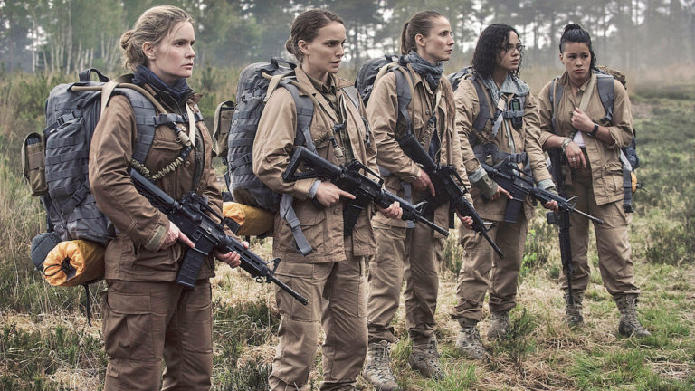 Natlie Portman and the other ladies of Annihilation dressed for combat