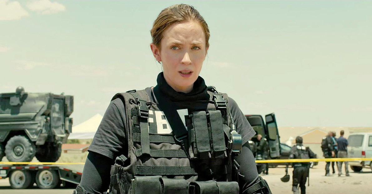 Emily Blunt in tactical gear in Sicario
