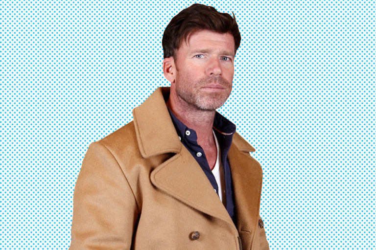 Taylor Sheridan in a brown jacket