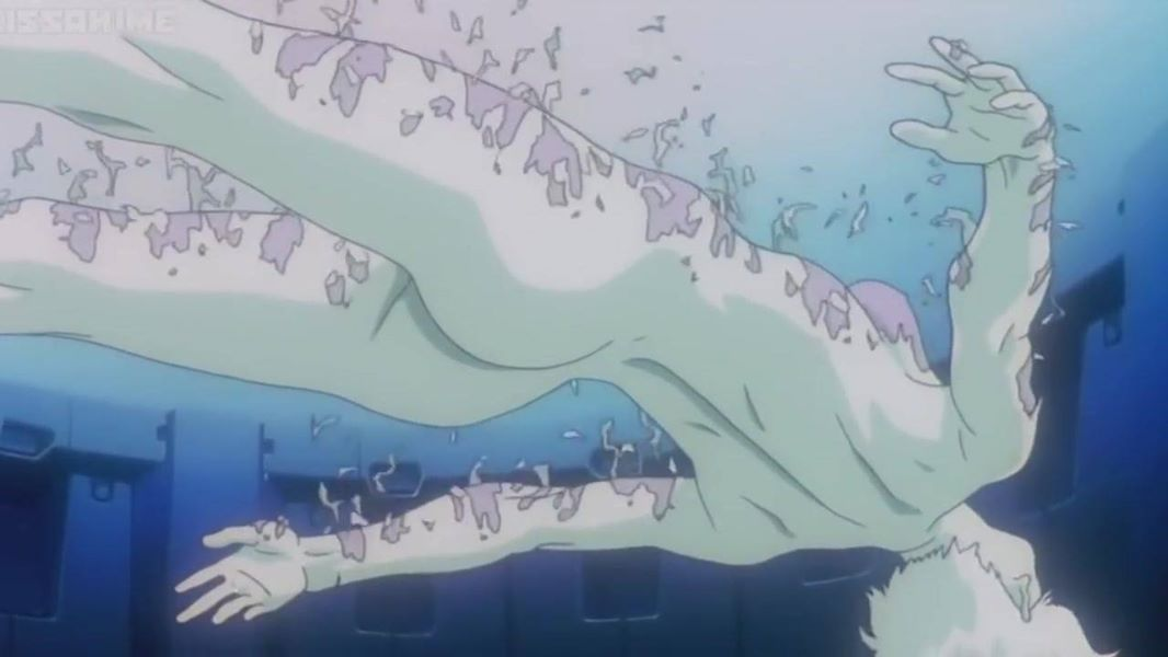 Ghost in the Shell - A woman submerged in water.