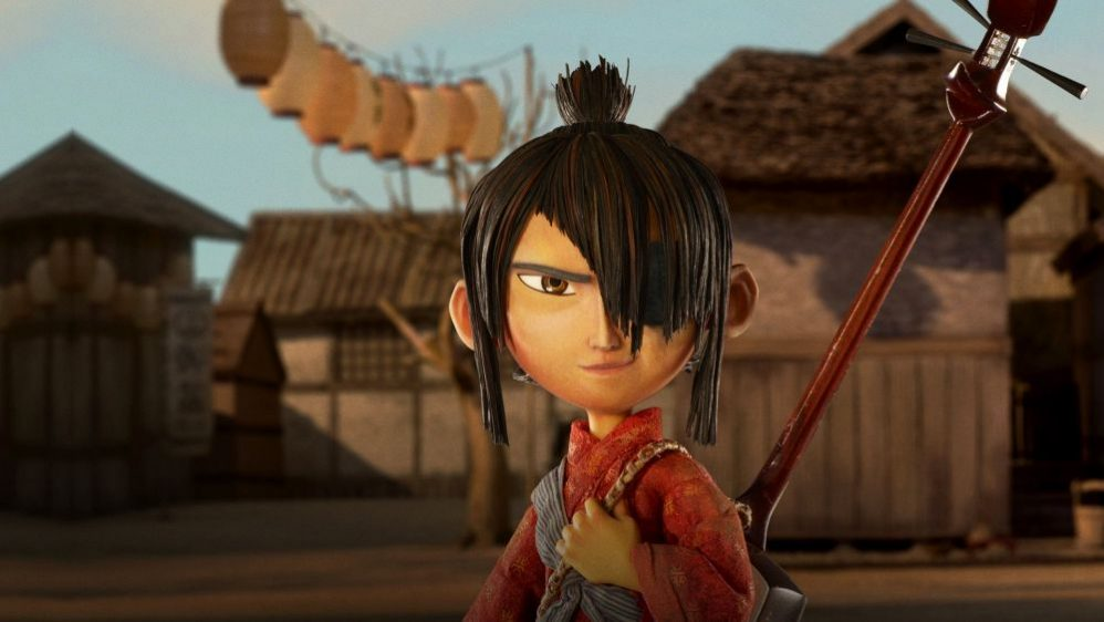 Kubo and the Two Strings - A stop motion warrior faces us, ready to battle.