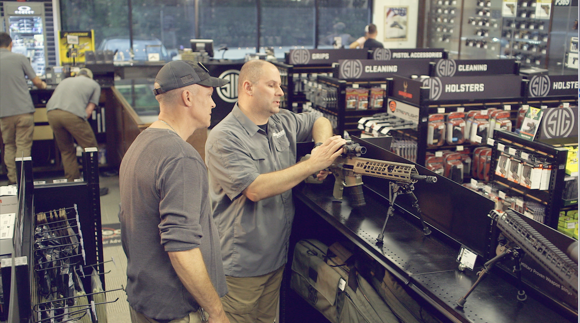 An inside view of the Sig Sauer Pro Shop