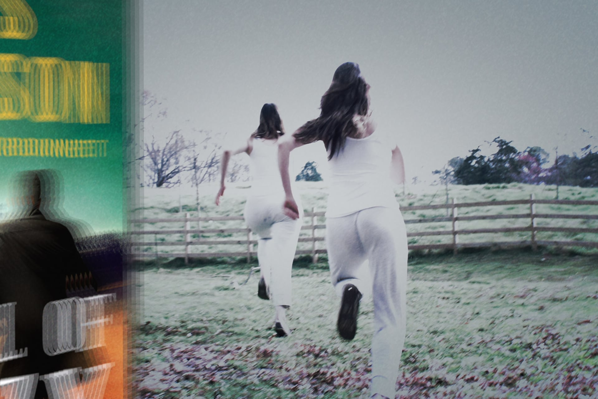 Two women running away in The Fall of Crazy House.