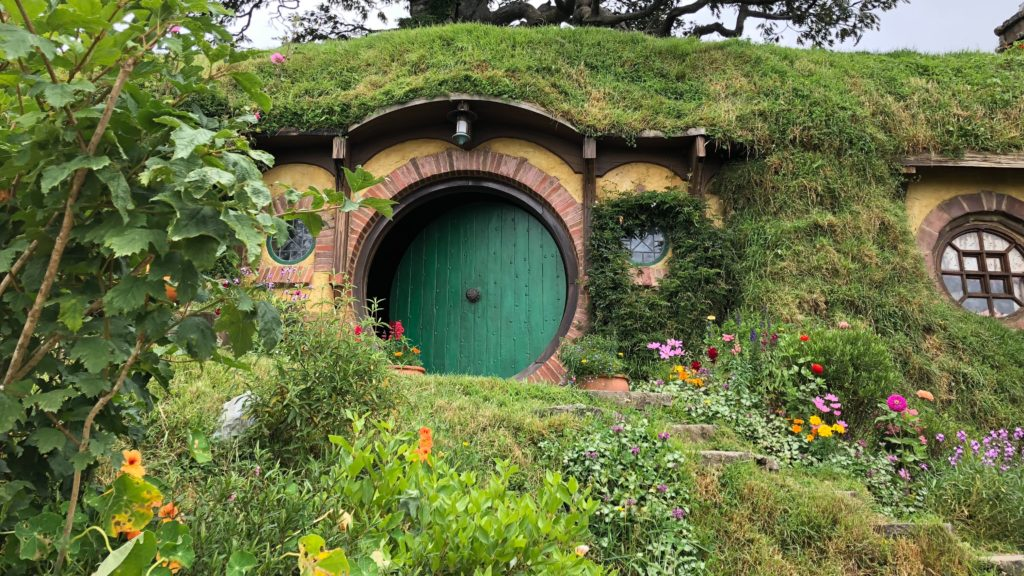 The production design of The Hobbit hole front door