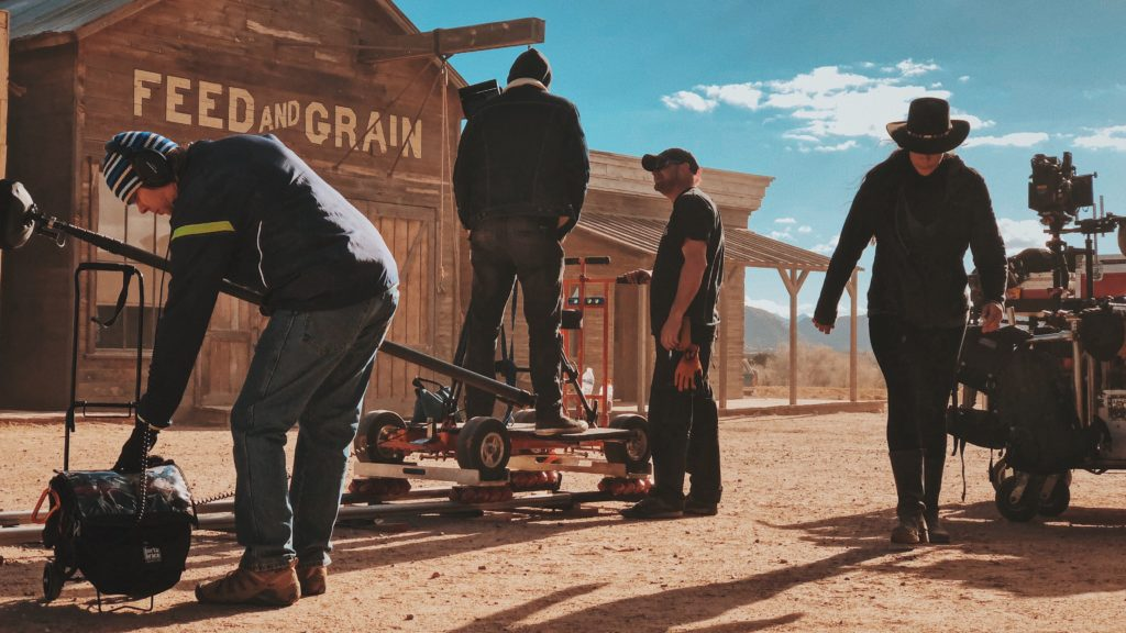 Behind the scenes of a wild West production design film set