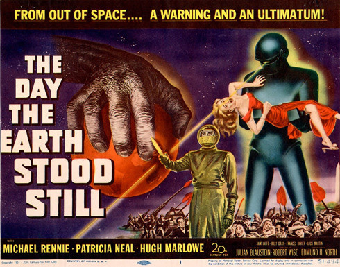 "Promotional poster for the horror movie, ""The Day the Earth Stood Still"""
