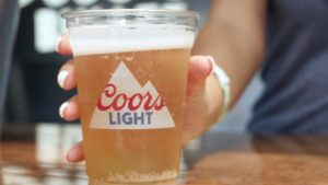 A cold cup of Coors Light for the 2019 college football kickoff