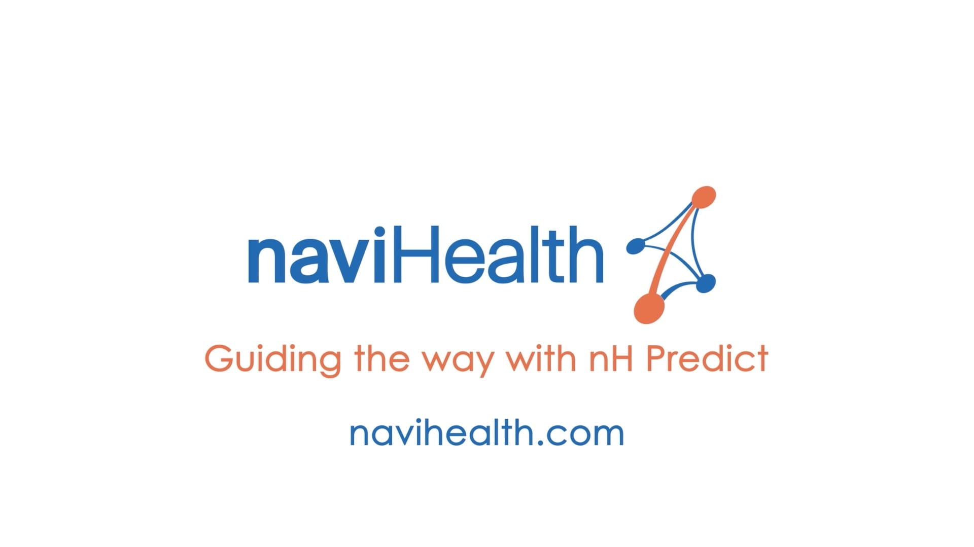 naviHealth logo on white background for their nH Predict animated explainer video